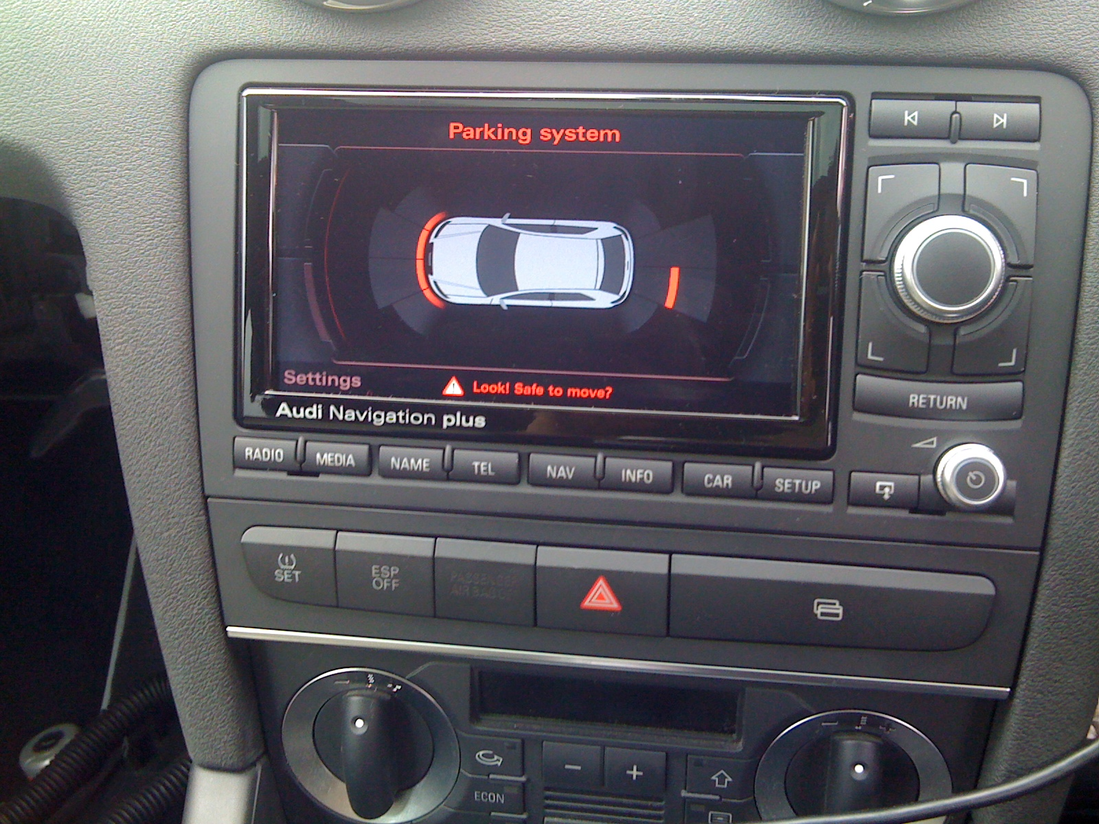 Optical Parking System Mod Installed AudiSportnet - Audi rns e